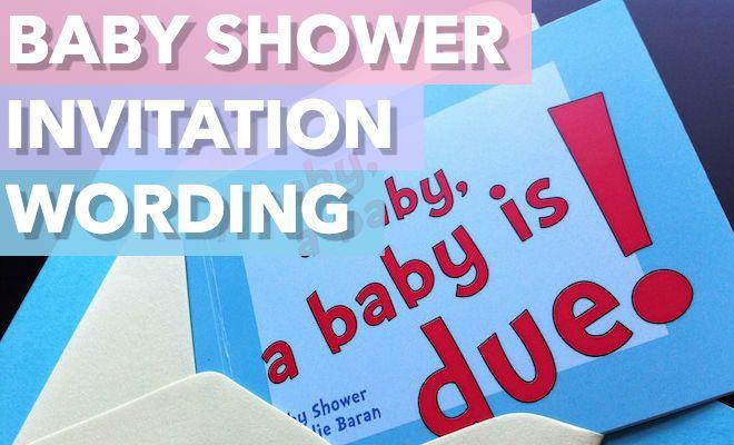 best baby shower invitation wording