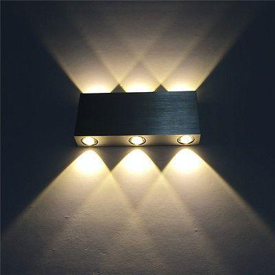 Design LED Wandleuchte Wandlampe Glas Leuchte Wandstrahler Flurlampe Schalter