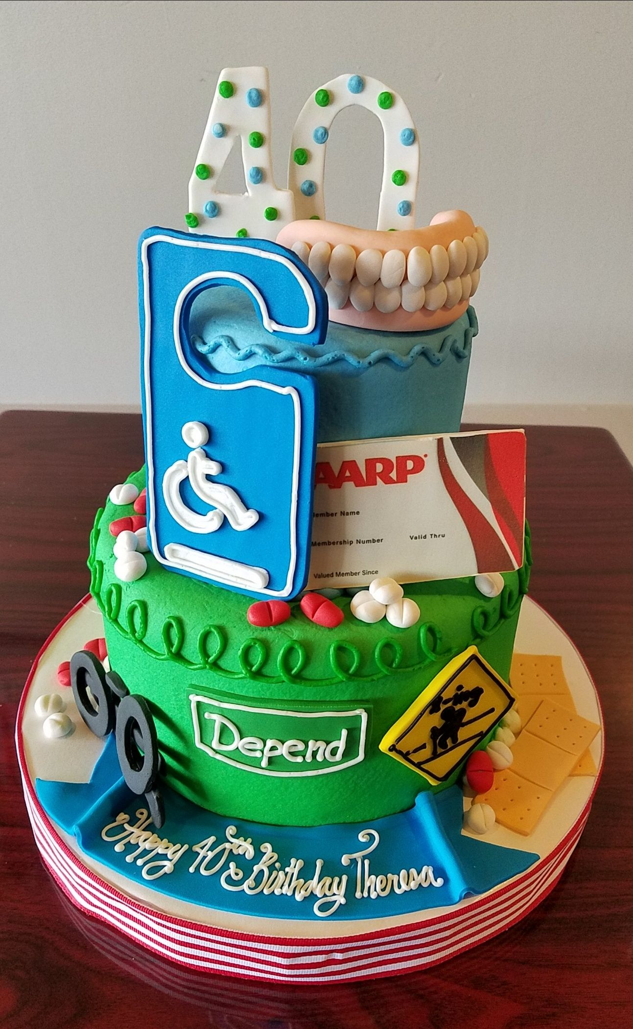 Humorous 40th birthday cake adrienne co bakery over
