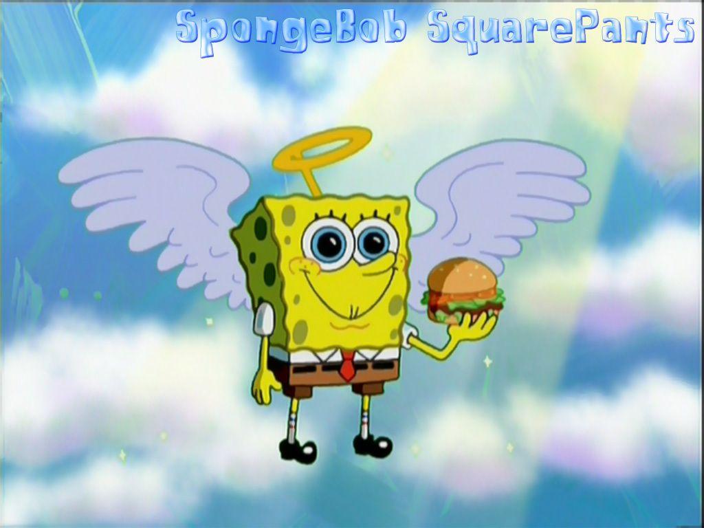 Spongebob Squarepants Fan Art Angel Bob Spongebob Background Spongebob Wallpaper Spongebob Cartoon