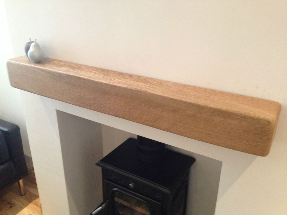 Details About Solid Oak Beam Mantel Piece Firesurround