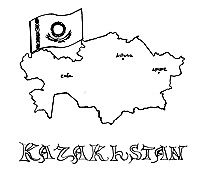 Kazakhstan For Kids Free Crafts Coloring Pages Puzzles Maps And More Geography Themes Coloring Pages Kazakhstan Flag