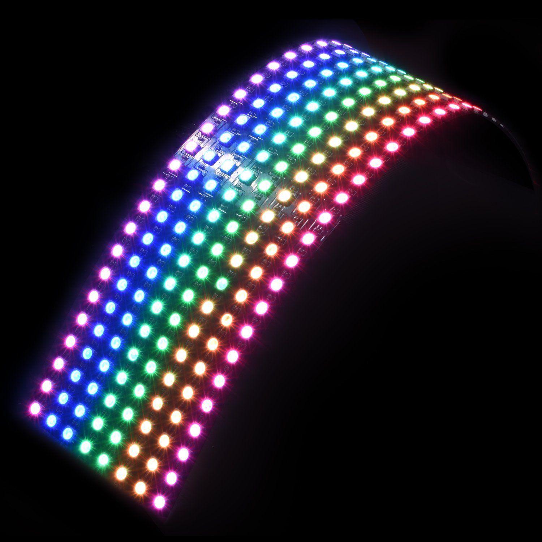 16x16 8x32  8x8 Pixels WS2812B digital flexible LED Matrix Panel Screen DC5V