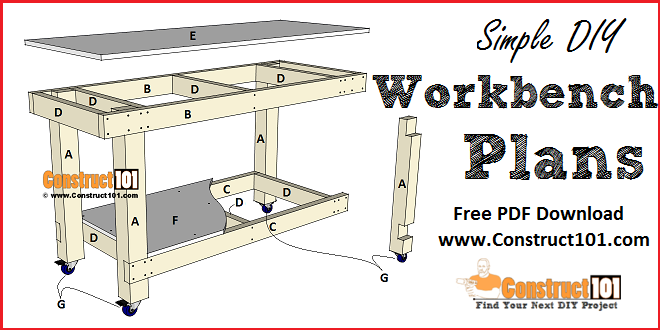 Simple Workbench Plans Construct101 Workbench Plans Simple Workbench Plans Building A Workbench