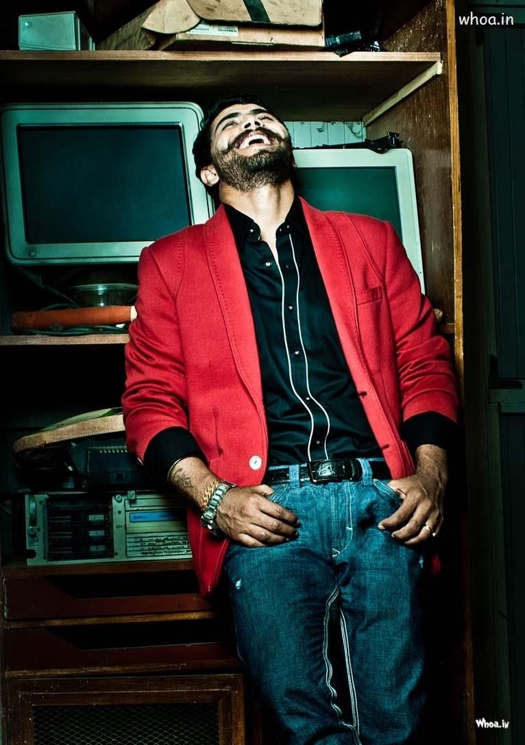 Ravindra Jadeja's Modelling Photoshoot With Red Coat And