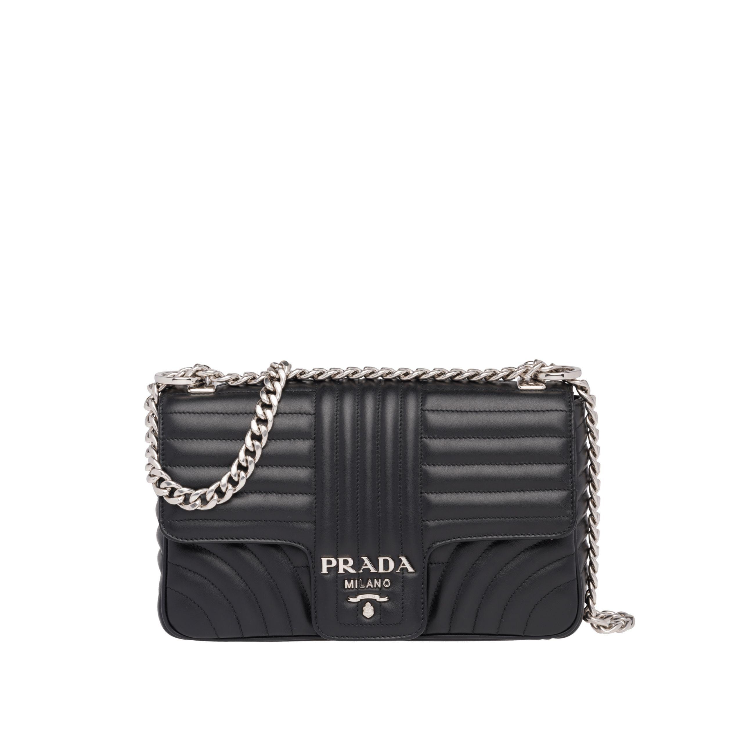 bdac6890f4a6 Prada Diagramme leather shoulder bag | maman in 2019 | Black leather ...