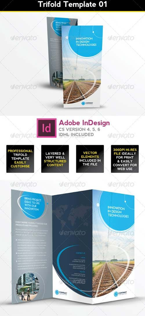 graphicriver trifold brochure template 01 indesign layout