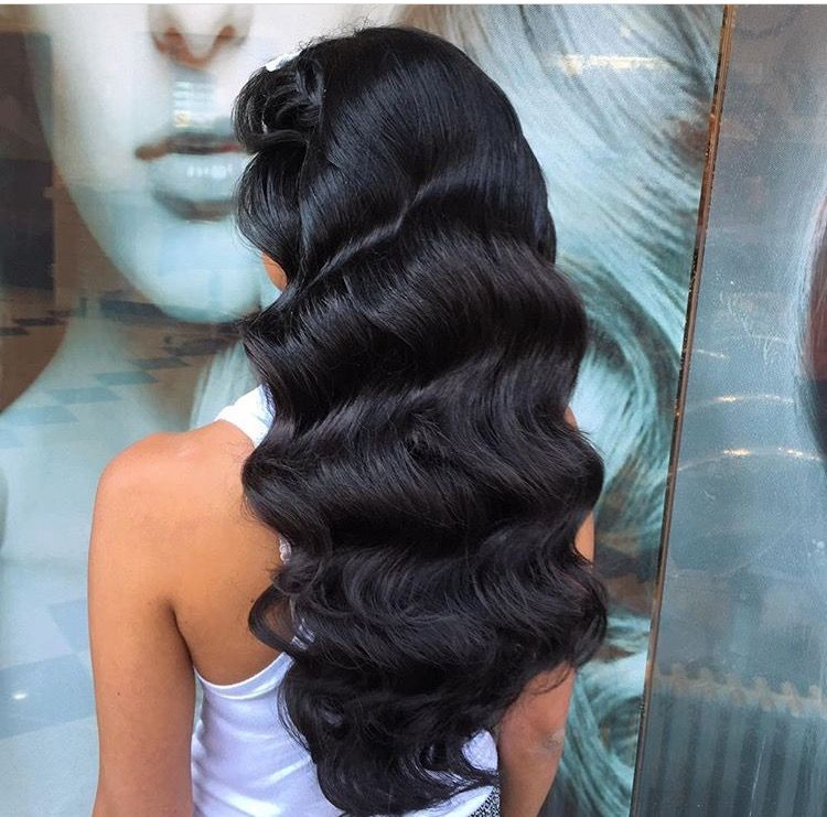 Waves Hairstyle Old Hollywood Waves  Hair  Pinterest  Hollywood Waves Prom And