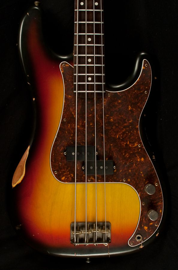 Nash PB-63 3-Tone Sunburst Bass Guitar- Relic \