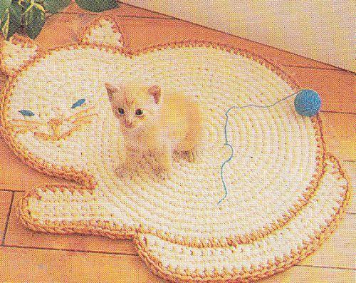 Cat Rug Crochet Pattern | Pinterest | Crochet patrones, Patrones y Gato