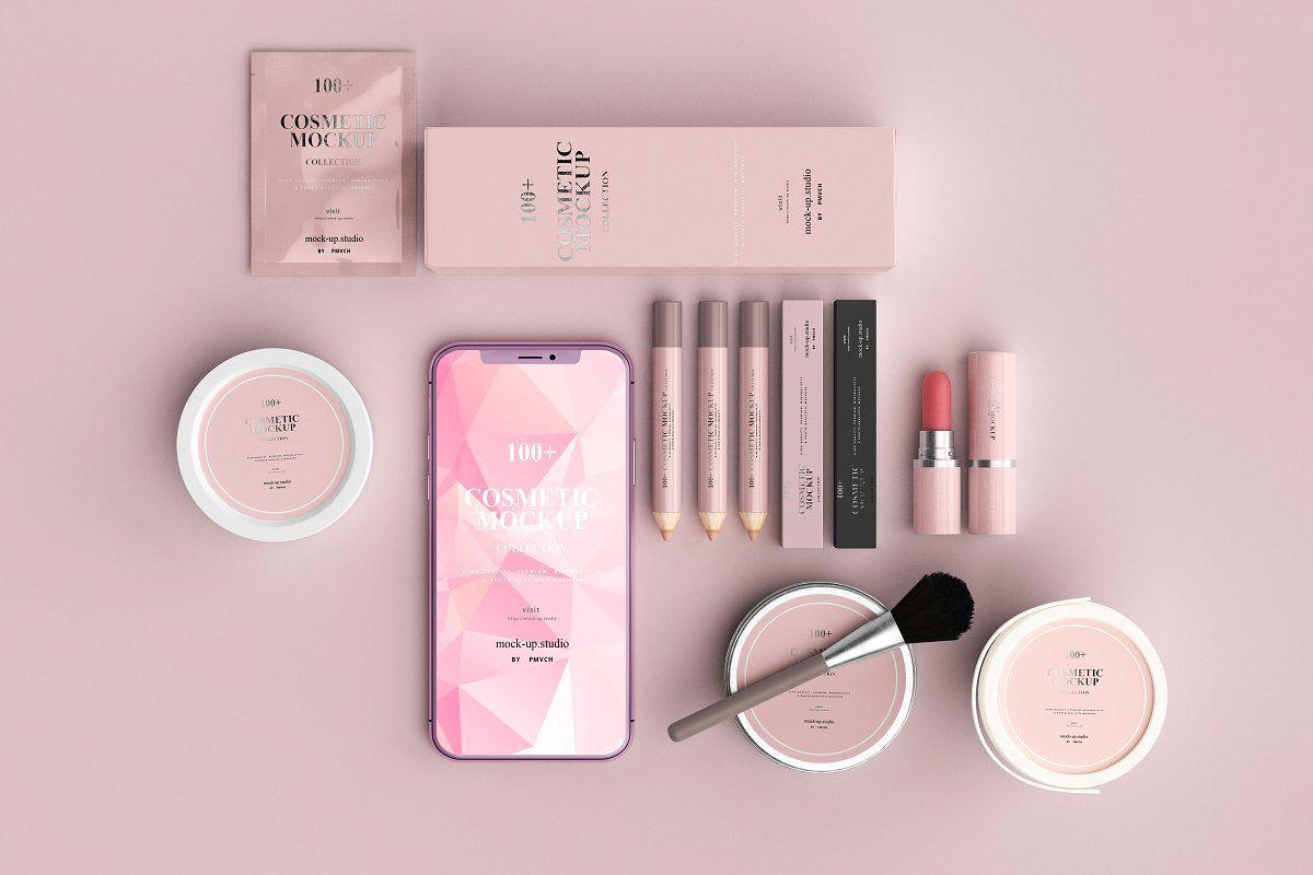100 Cosmetic Mock Up Collection Cosmetics Mockup Cosmetics Brands Creative Makeup Looks