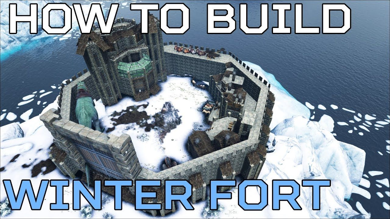 🦄 Winter Fort HOW TO BUILD The Island PVE | Ark Survival