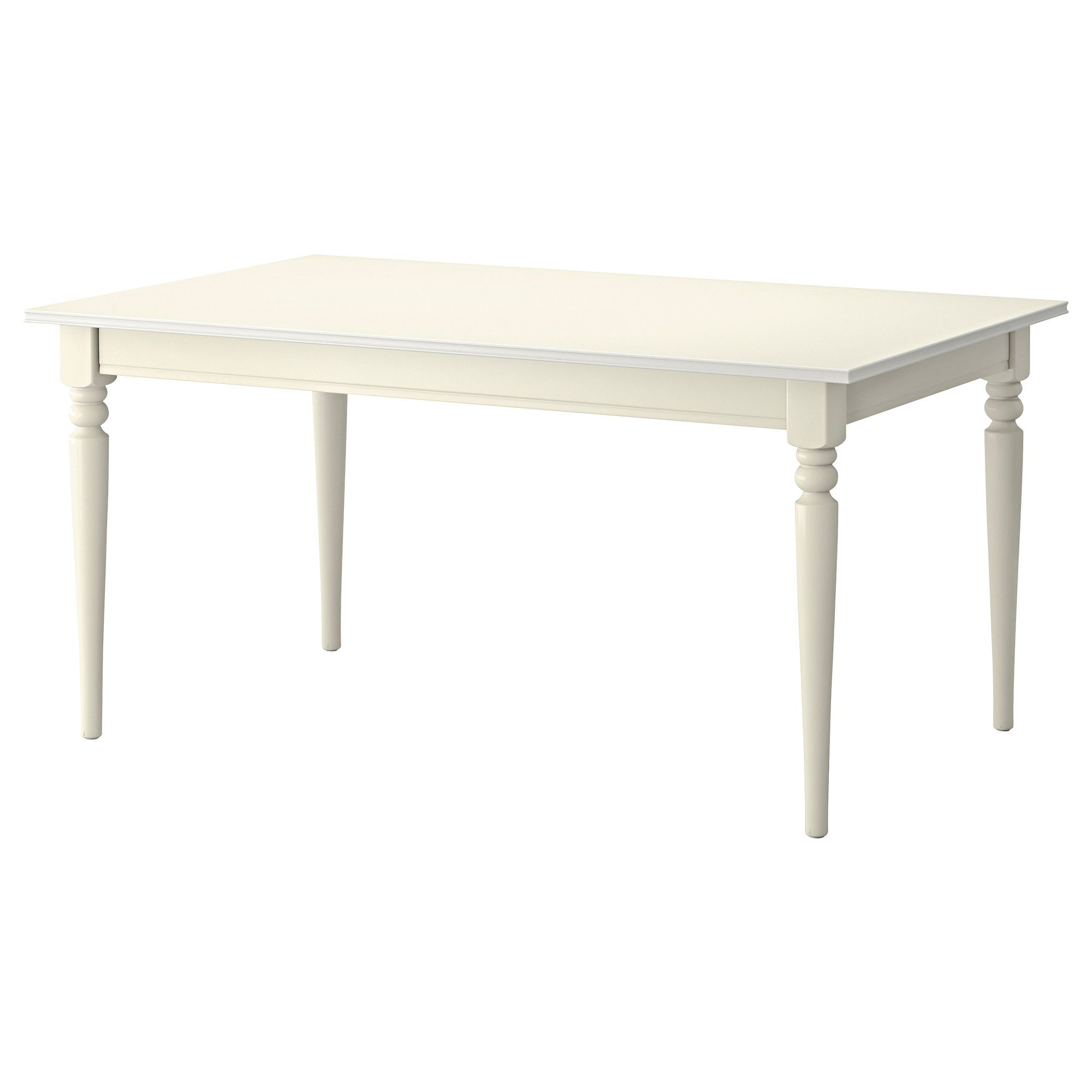 White Dining Table Ikea: IKEA INGATORP White Extendable Table