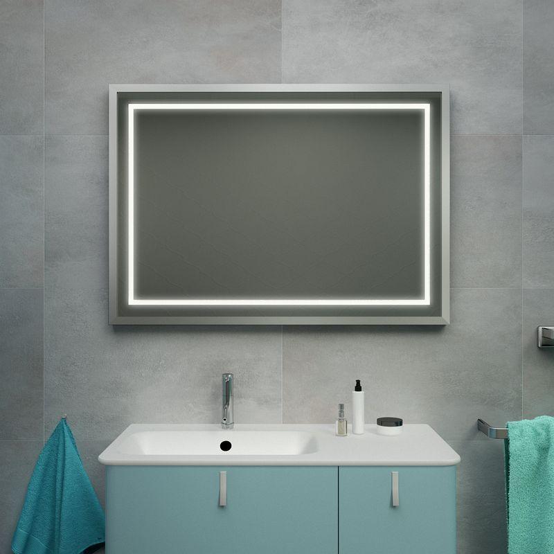 Rahmenspiegel Bad Kaufen Schwarz Silber Kiel Mit Bildern