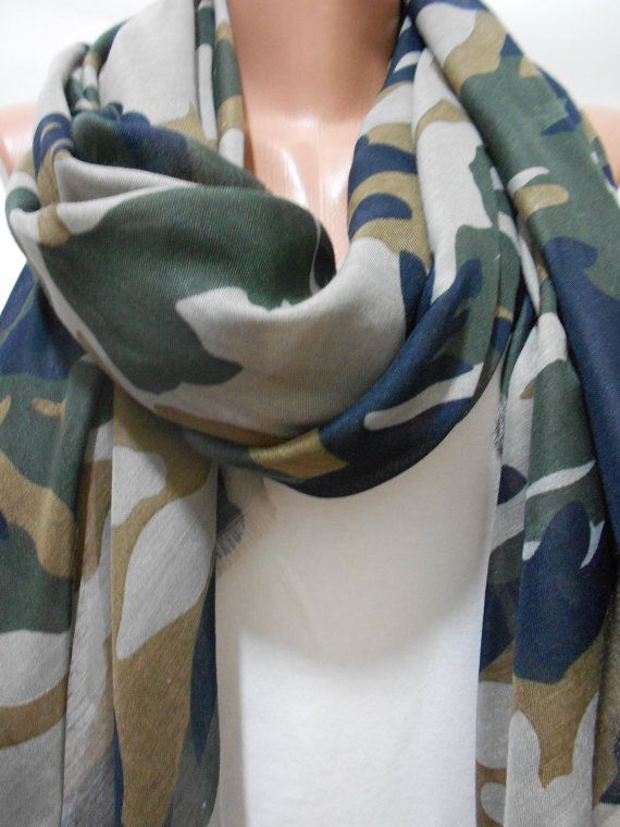 a5ac00089c Military Scarf Shawl, Camouflage Pattern Scarf Shawl, Army Green Scarf,  Camo Scarf, Khaki Cowl Scarf, For Her, Women Accessories, ScarfClub