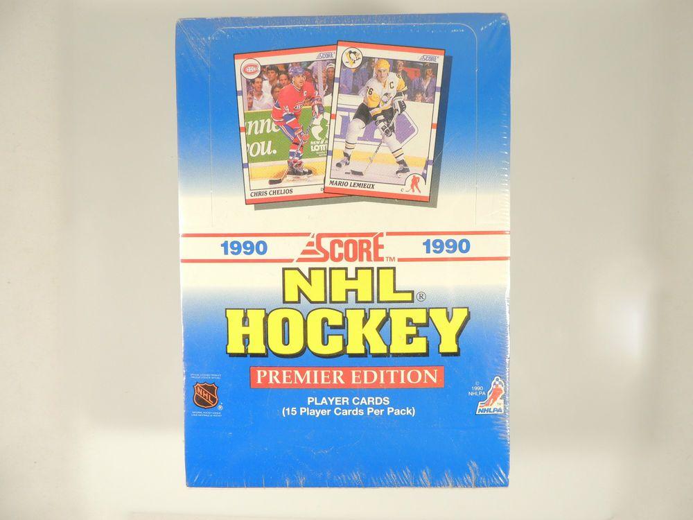 1990 score nhl hockey premier edition player cards 36