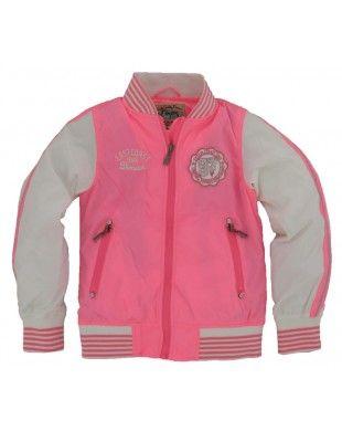 vingino meisjes zomerjas marlie neon pink | sport | sports, jeans et