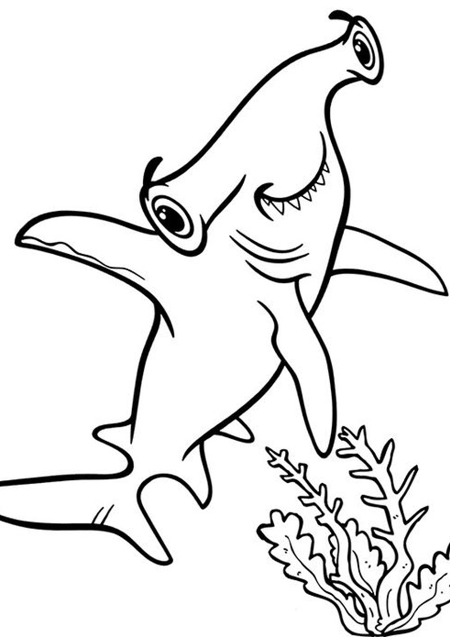 Free Easy To Print Shark Coloring Pages Shark Coloring Pages Shark Coloring Crayola Coloring Pages