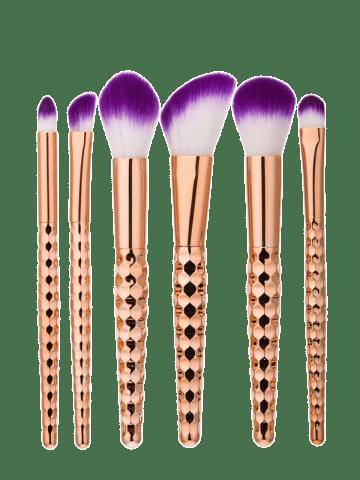 6pcs Honeycomb Shape Handle Makeup Brushes Set Unicorn Makeup Brushes Set Makeup Brush Set Mermaid Makeup Brushes