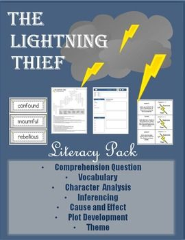 the lightning thief literacy pack pinterest comprehension