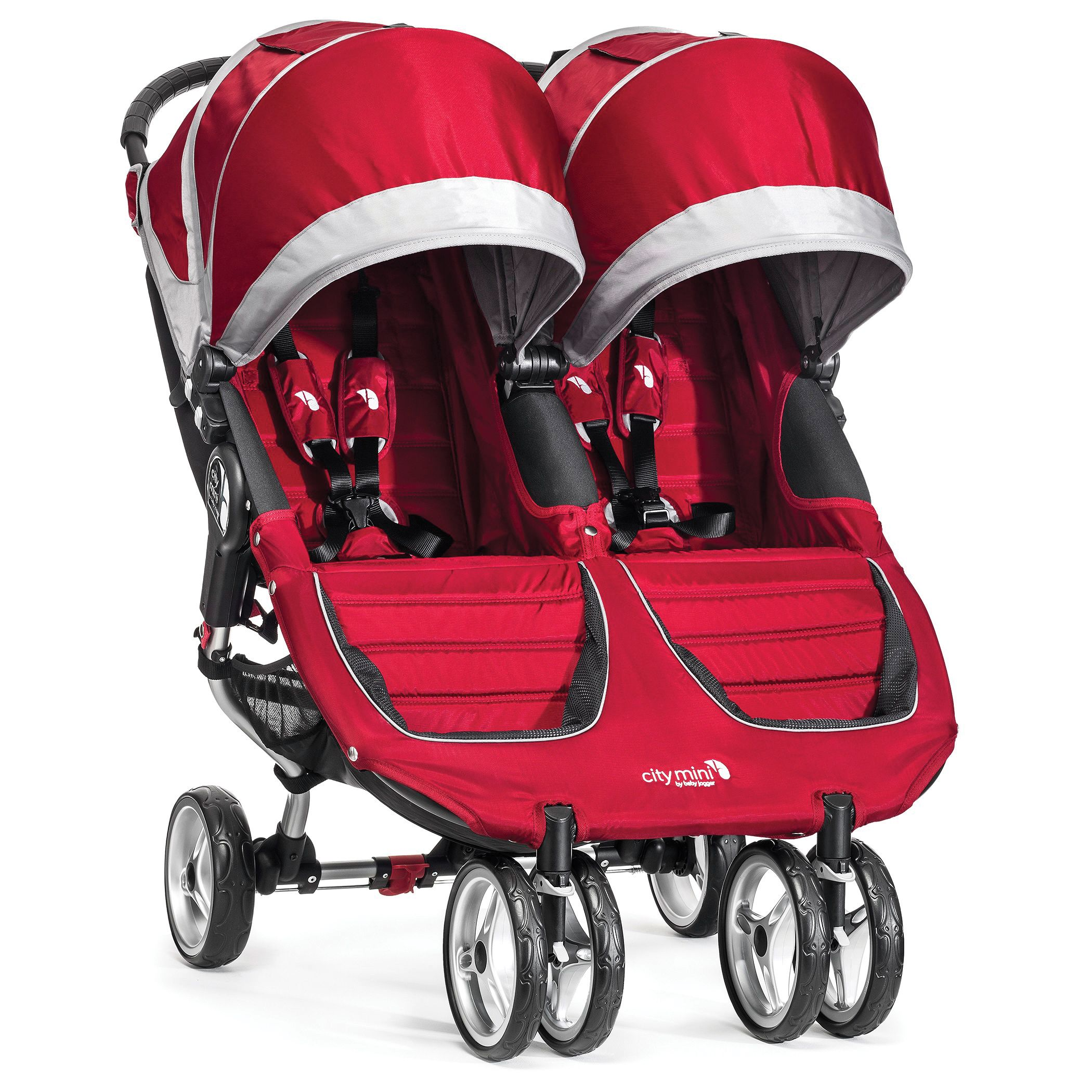 Red Baby Jogger City Mini Double Stroller