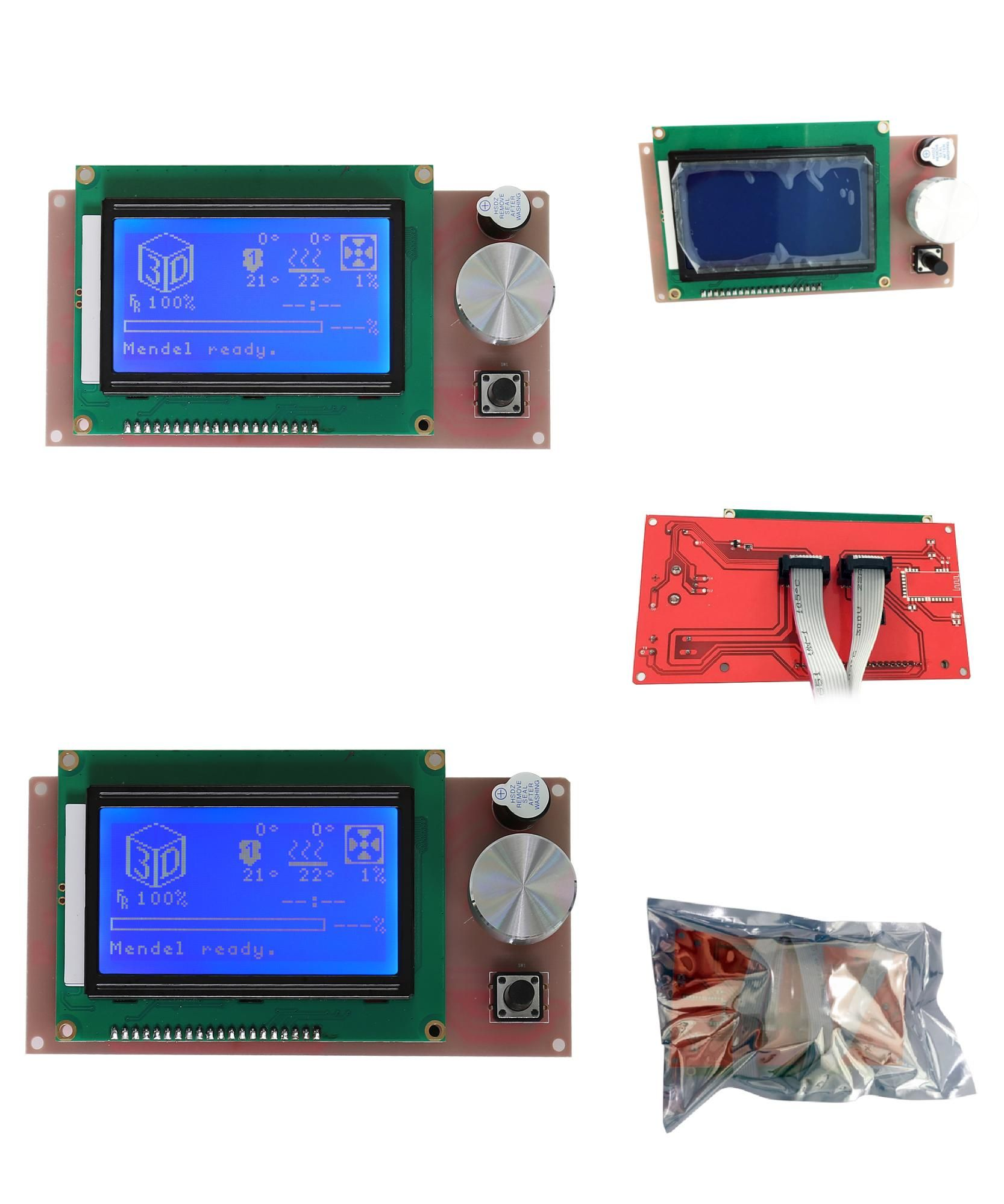 [Visit to Buy] Upgrade Biggest LCD Screen for Anet A6 3D Printer With