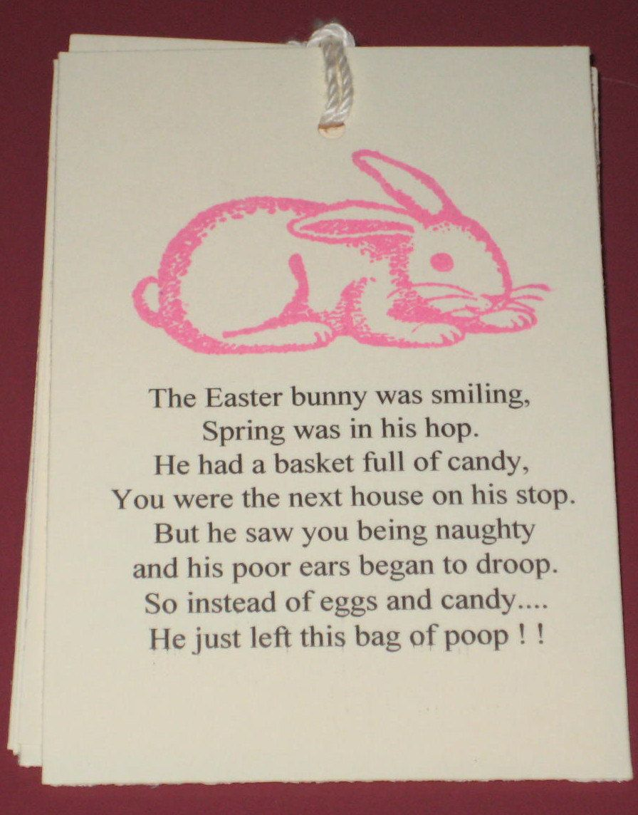 6 gift tags easter bunny poop 599 via etsy easter bunny 6 gift tags easter bunny poop 599 via etsy negle Gallery