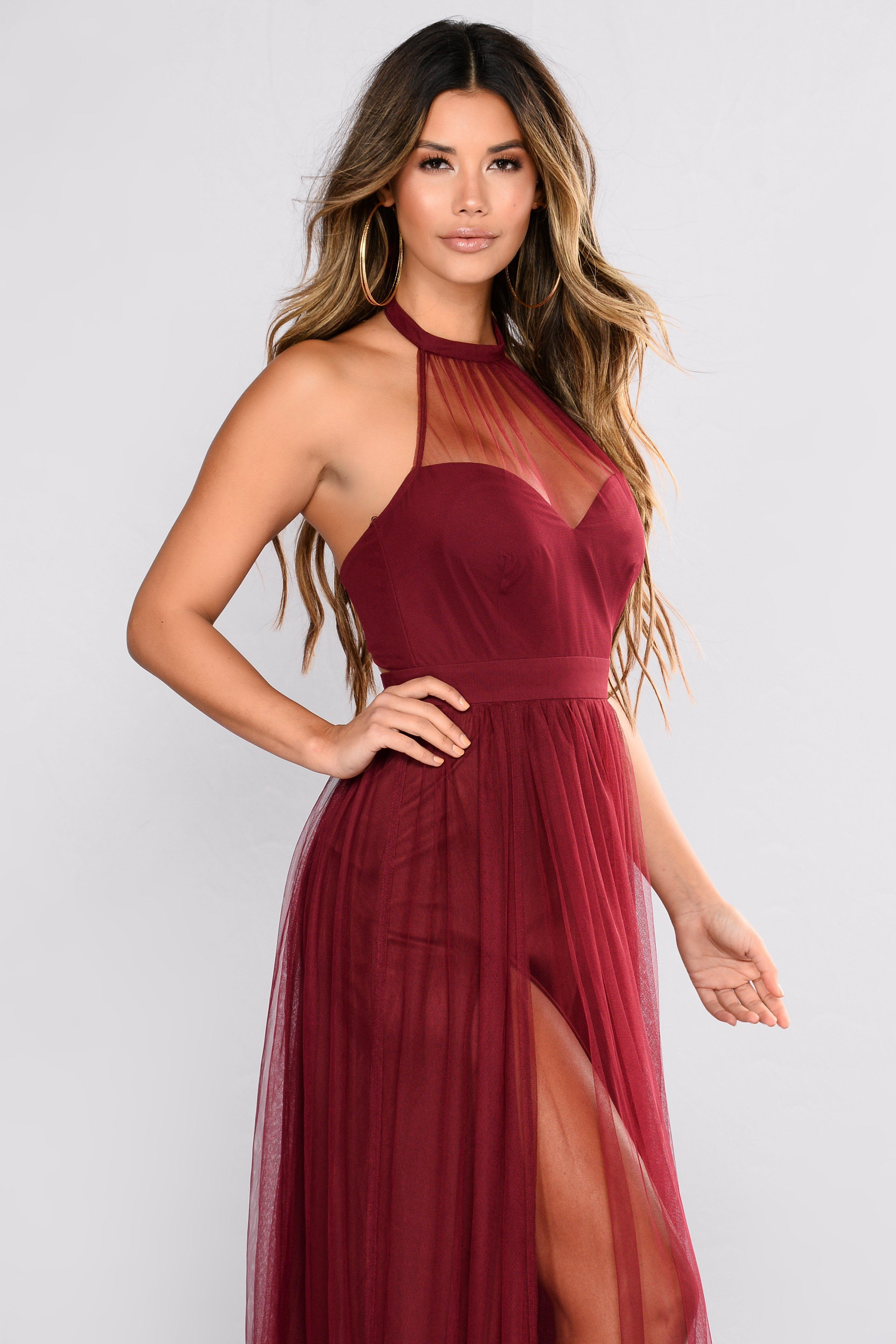 Off The Tulle Gown Wine Tulle gown, Dresses, Work