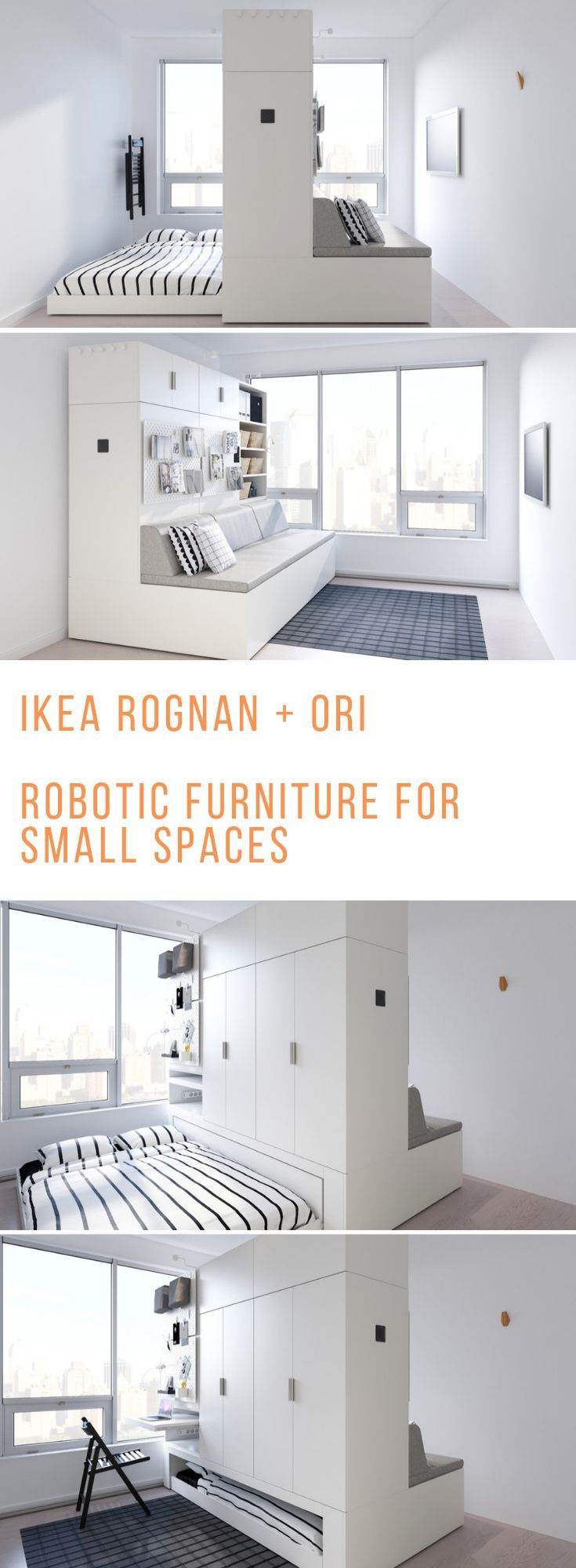 Robotic Furniture IKEAs new big thing for tiny spaces Shape shifting robotic furniture that transform from living room to bedroom and back Perfect for small spaces tiny h...