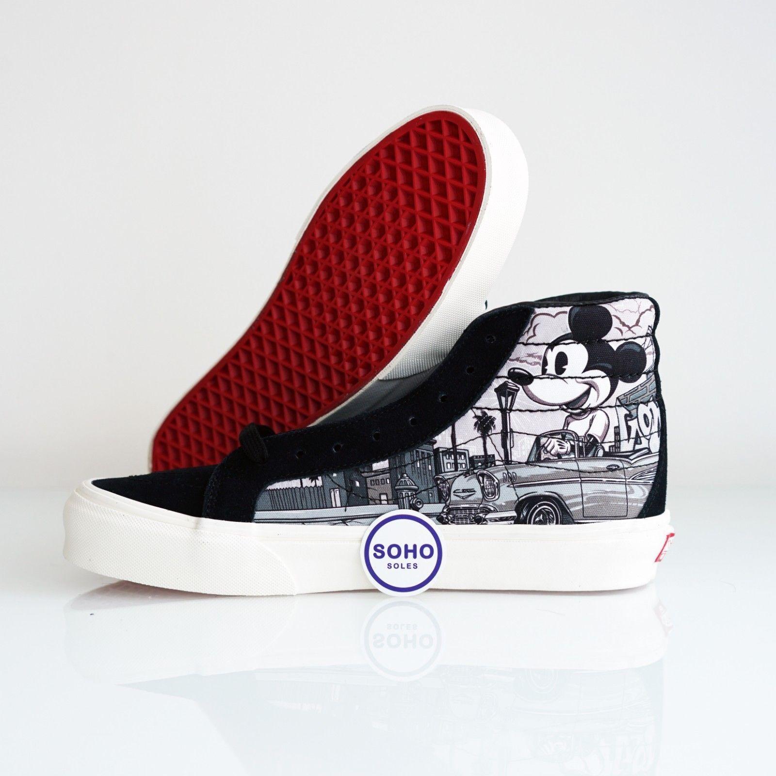 aed50f3d9b0b42 Vans Sk8-Hi Disney Mr Cartoon Mickey Mouse 90th Anniversary VA38FYRNN Sz 4.5 -13