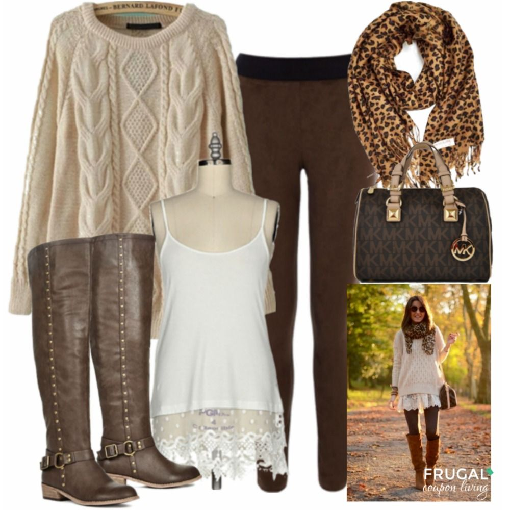 frugal fashion friday brown autumn outfit frugal fall