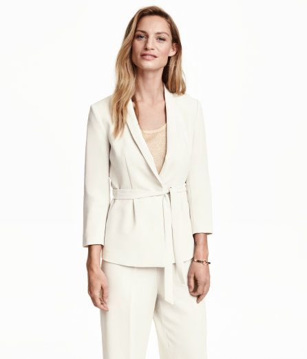 White two-piece suit