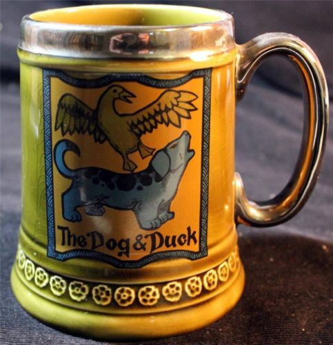 Vintage MUG Beer Stein Lord Nelson Pottery Hand Crafted England THE DOG Duck | eBay