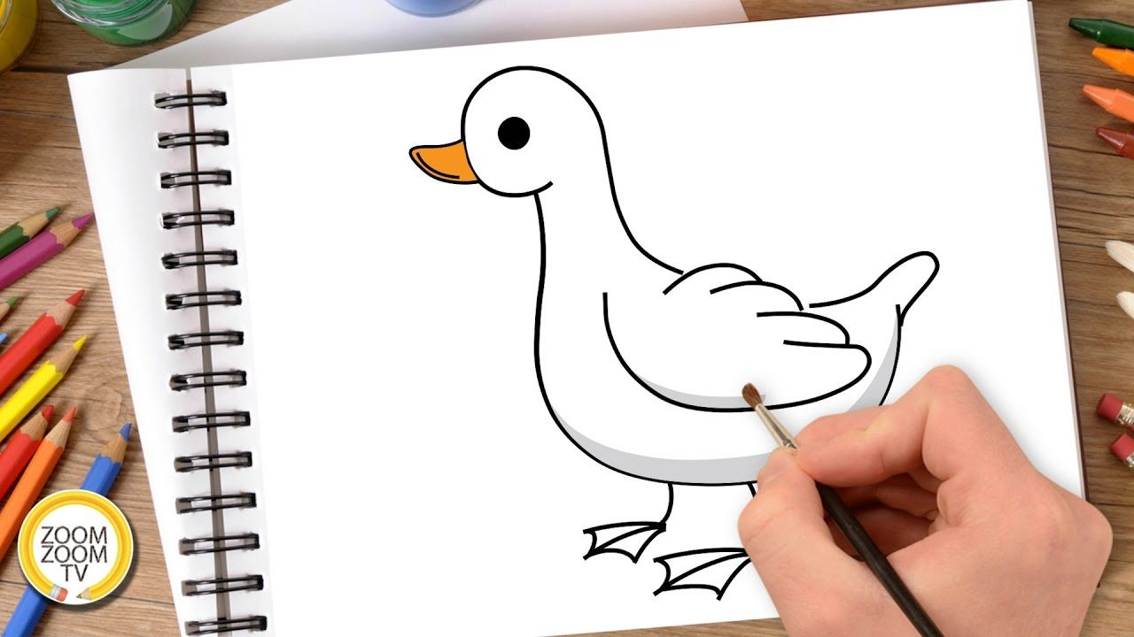 How To Draw A Duck Hướng Dẫn Vẽ Con Vịt Learn To Draw Drawings Draw