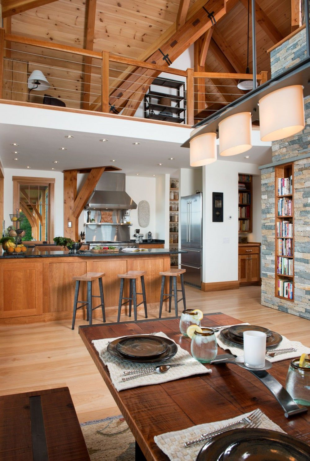 Timber framing and stonework create the most stunning designs