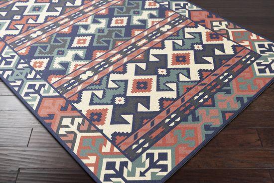 JTII-2054, #surya. jewel tone II. 100% hard twist wool. handwoven. flat pile. reversible. india.