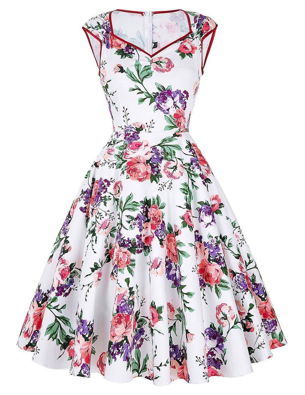 femmes r tro ann es 50 39 s rockabilly pour mariage ou bal pinup robe motif fleurs