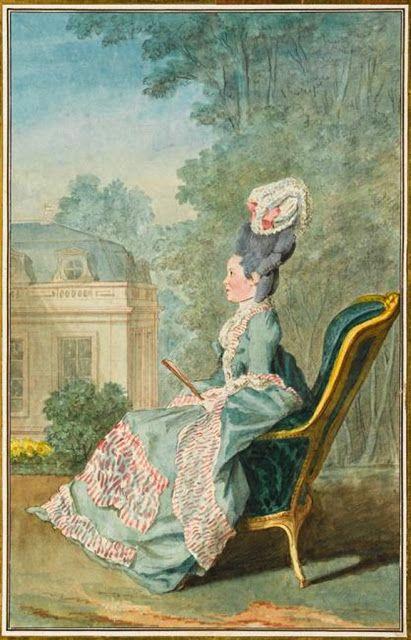 Mlle de Mercy de Villiers-Cotterets, 1774 by Louis Caroggis Carmontelle (1717-1806)
