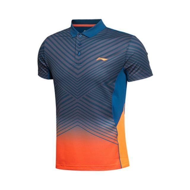 8fea1d6ad7f Li-Ning Men Badminton T-Shirt Quick Dry Breathable Flexible Polyester Fiber  Training Sport t-Shirt