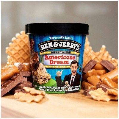 Ben Jerry S Ice Cream Americone Dream 16oz Ben Jerrys Ice