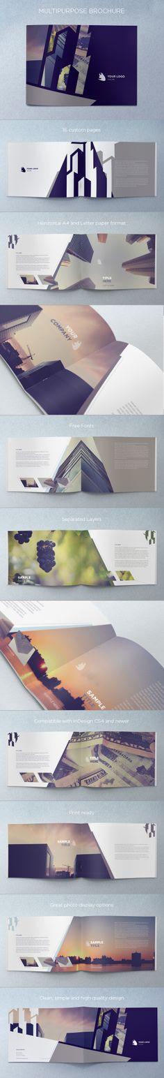 Multipurpose Brochure. Download here: http://graphicriver.net/item/multipurpose-brochure/4599702 #design #brochure