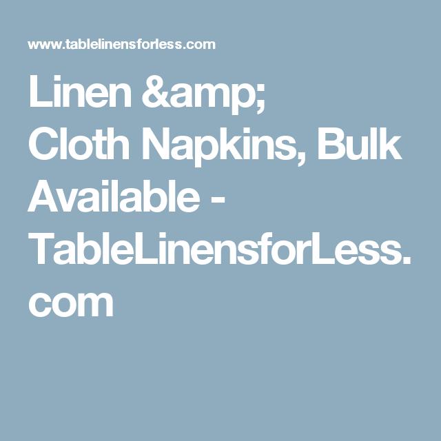 Lovely Linen U0026 Cloth Napkins, Bulk Available   TableLinensforLess.com