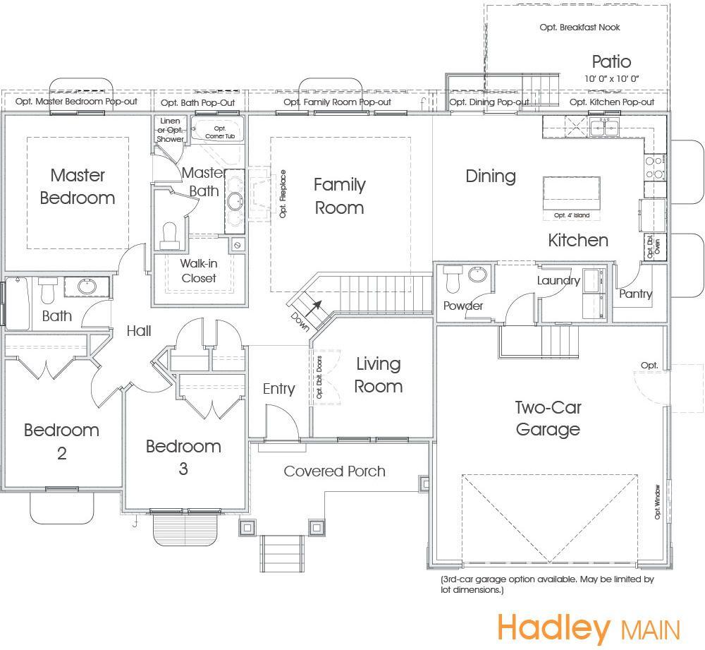 Hadley Utah Floor Plan Edge Homes Floor Plans Dream House Plans How To Plan