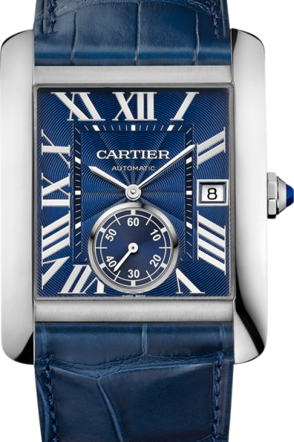 a05b49efbb4c Cartier Tank MC Automatic Blue Dial Mens Watch WSTA0010 www.majordor.com  .png
