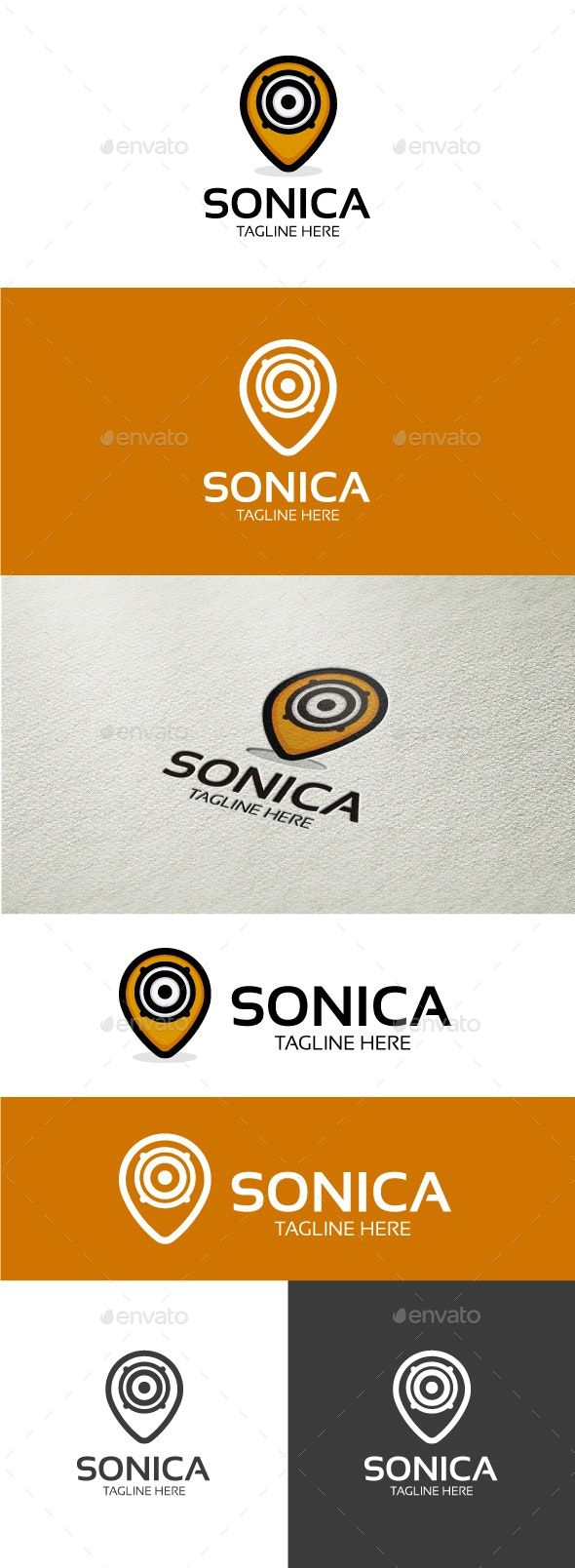 Sonica Symbol Logo Design Template created by