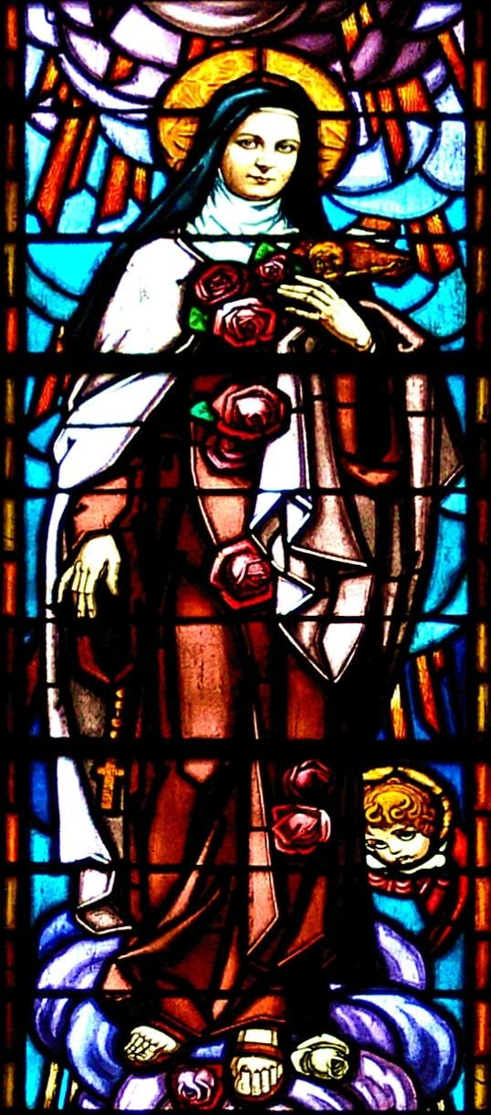 Saint Therese of Lisieux The Little Flower stained