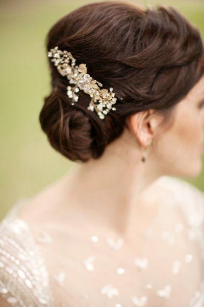 Vintage Chic New Orleans Spring Wedding Bridal Hairstyles