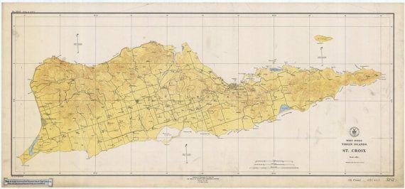 St. Croix Map - 1923 | Decorating | Pinterest
