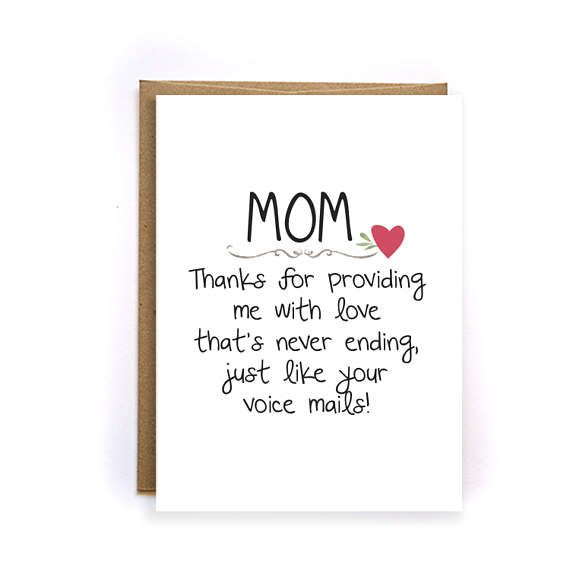 Mothers Day Card Floral Funny Thank You Mom Card Unique With