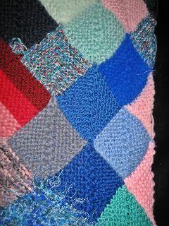 Patchworkdecke Aus Restewolle Stricken Decken Pinterest Knitting